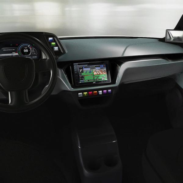 Wnętrze samochodu elektrycznego ELV001-PB-EXEON